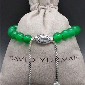 David Yurman Green onyx spiritual beads bracelet